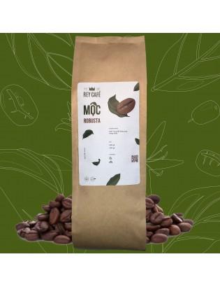 Cà phê Mộc Robusta - Gói 500gr - Nguyên chất rang mộc