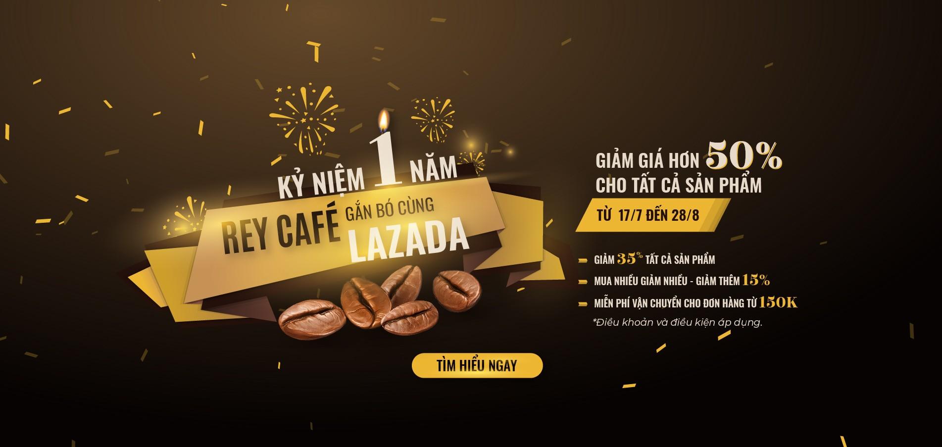 Chương trình khuyến mãi giảm 50% cà phê tại Lazada